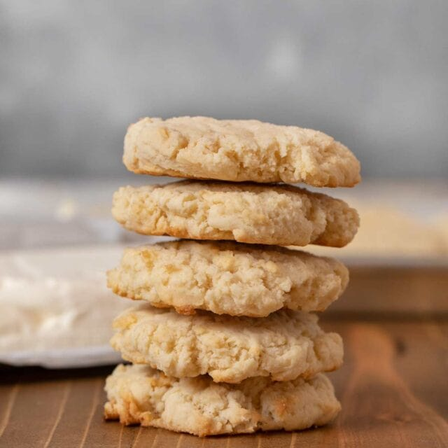 Cream Cheese Cookies in stack