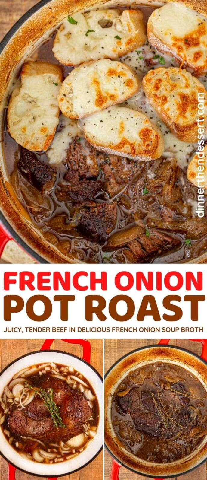 French Onion Pot Roast collage