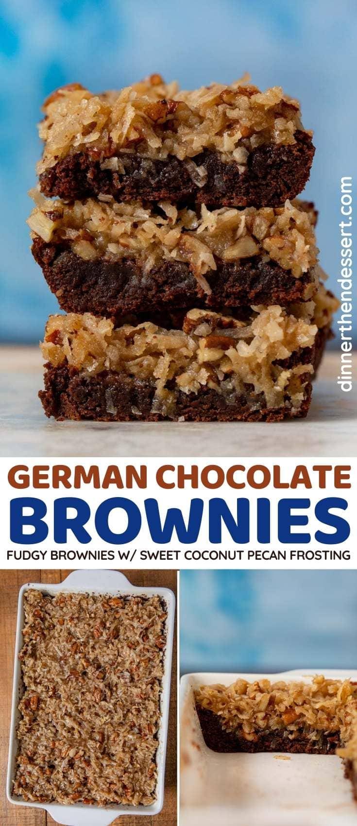 German Chocolate Brownies collage