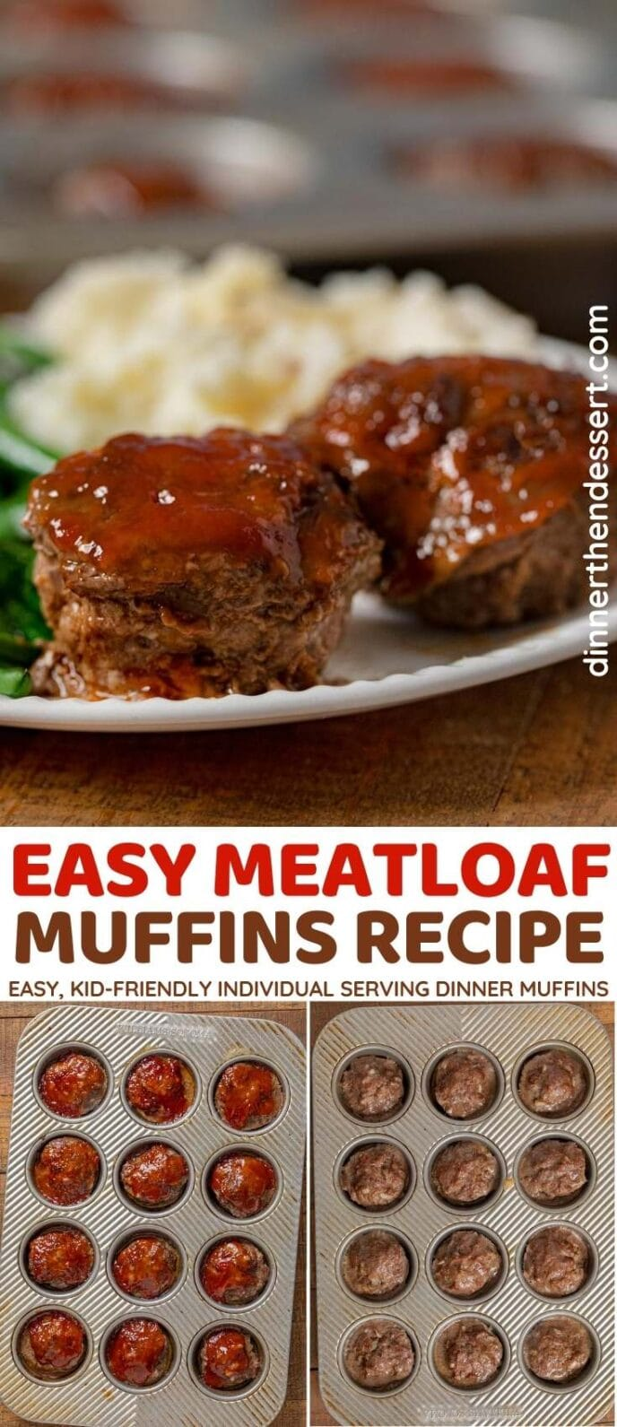 Meatloaf Muffins collage
