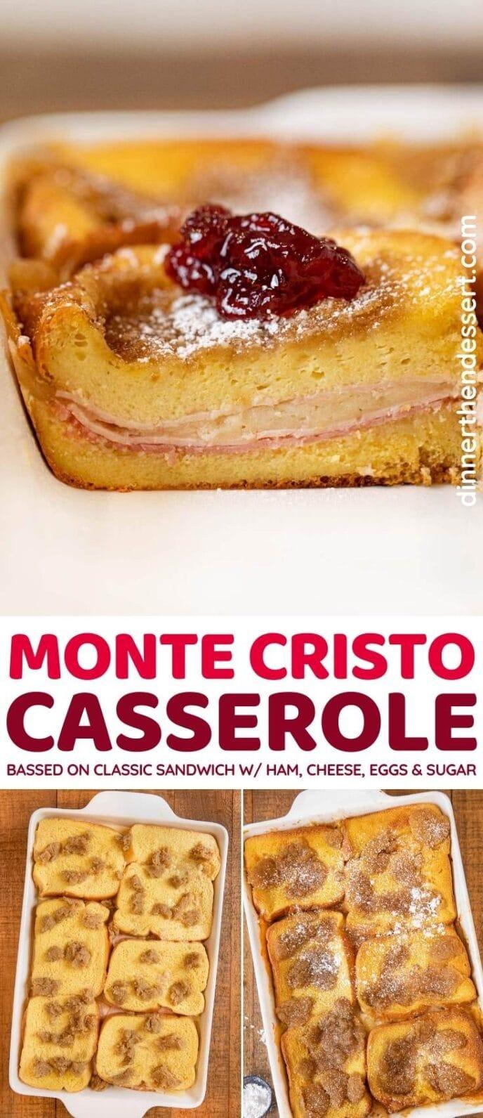 Monte Cristo Casserole collage