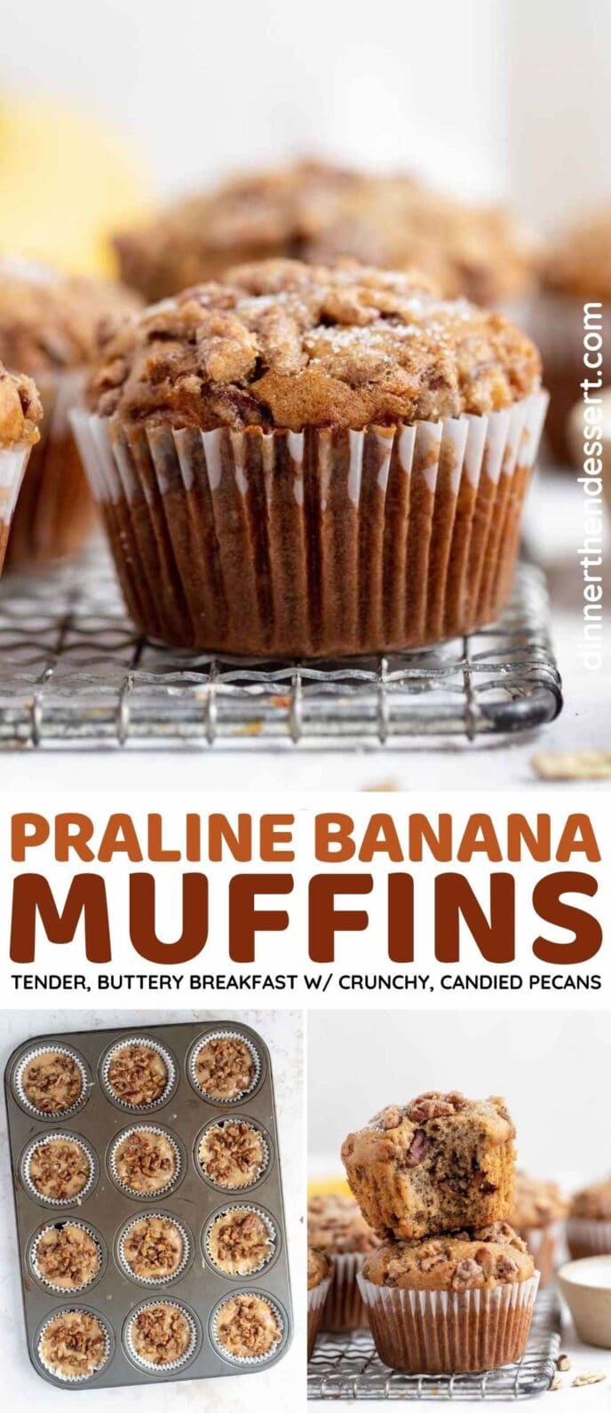 Moist Praline Banana Muffins