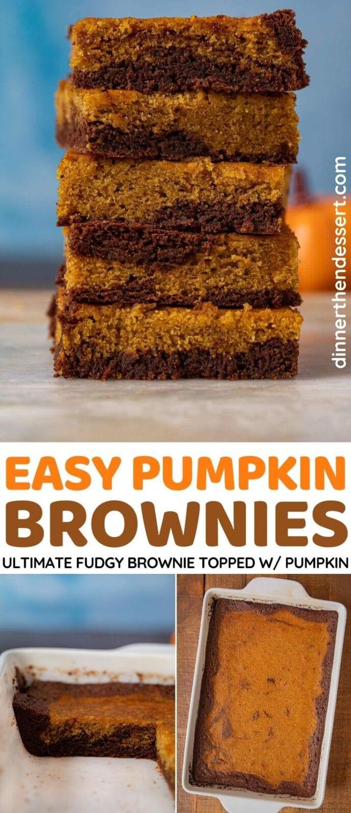 Pumpkin Brownies collage