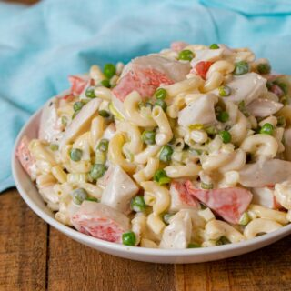 Seafood Pasta Salad in bowl