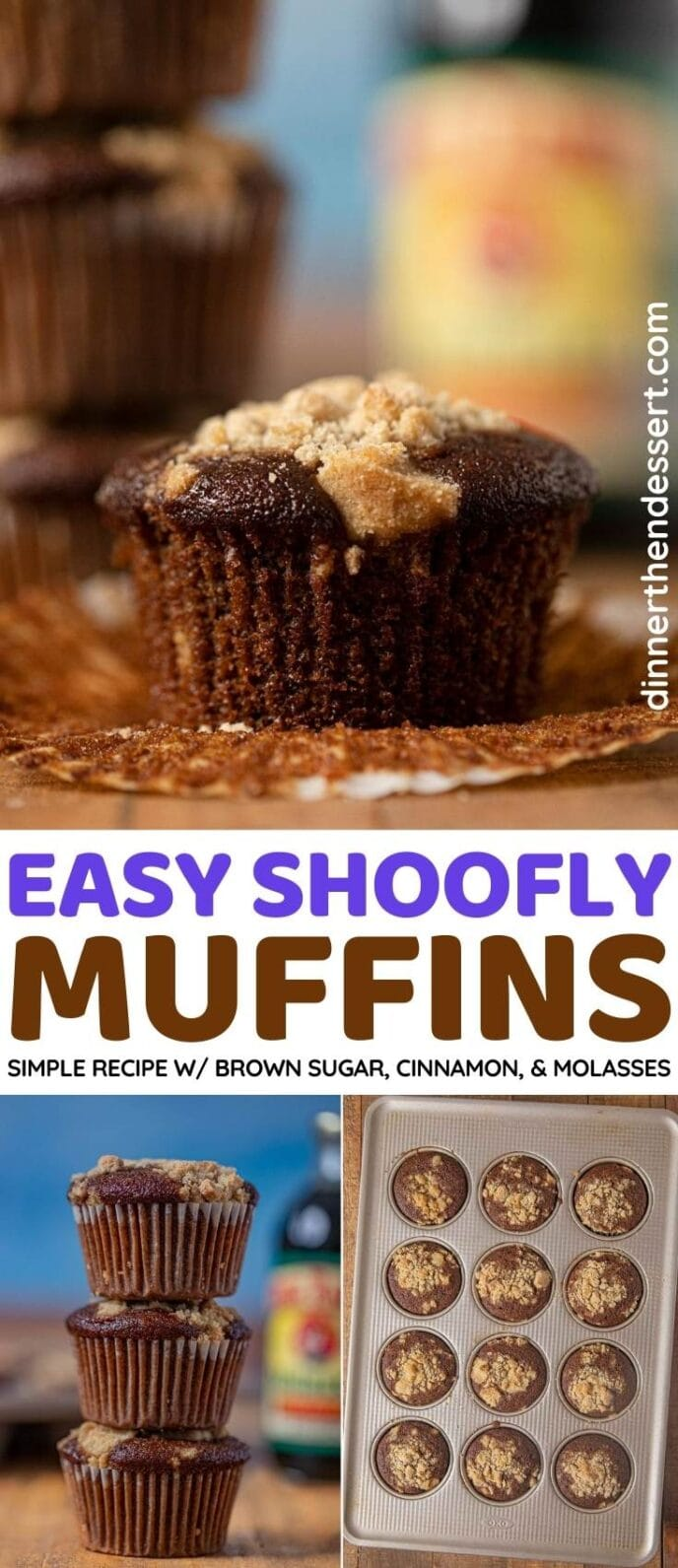Shoofly Muffins collage