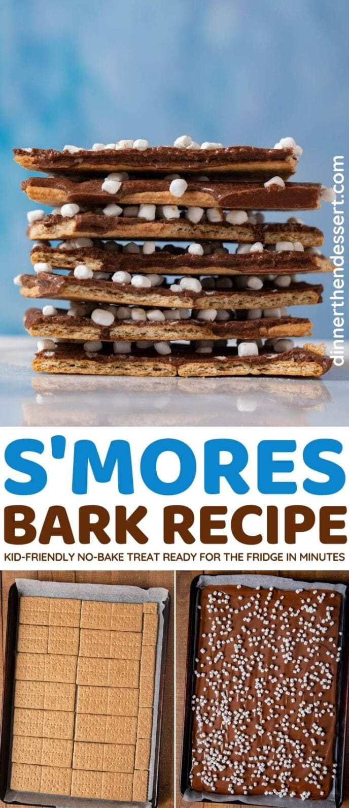 S'mores Bark collage