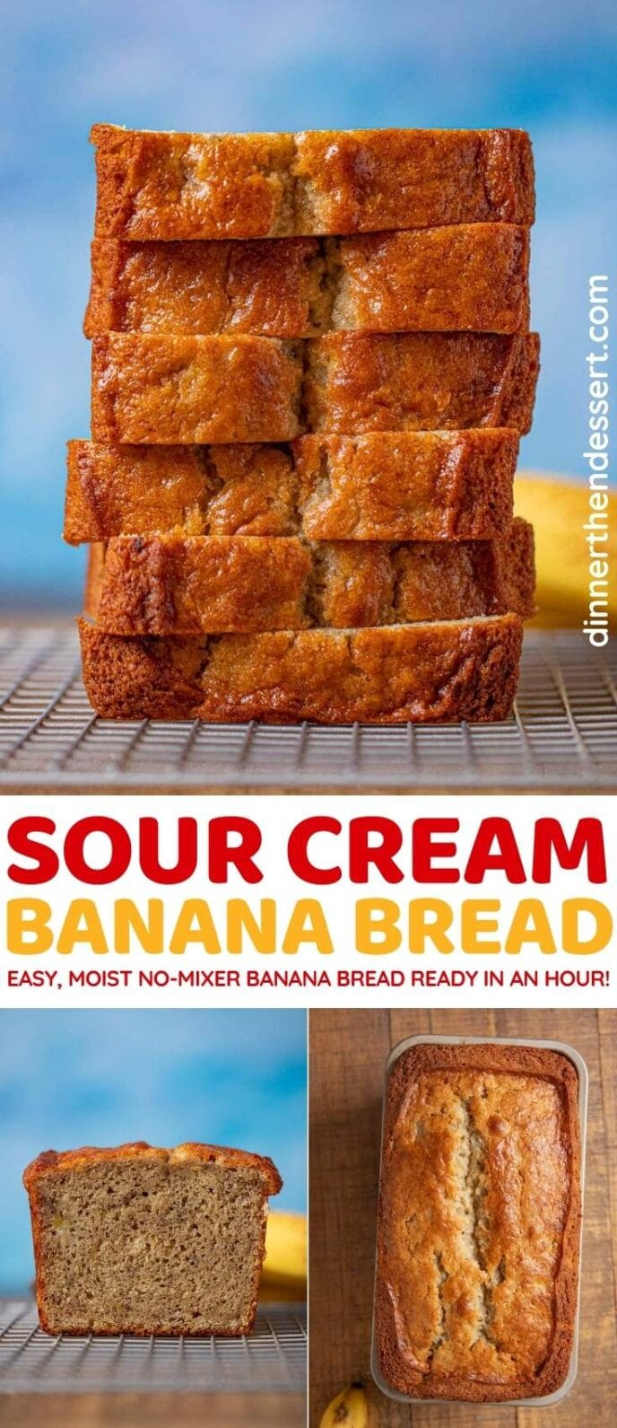 Sour Cream Banana Bread collage