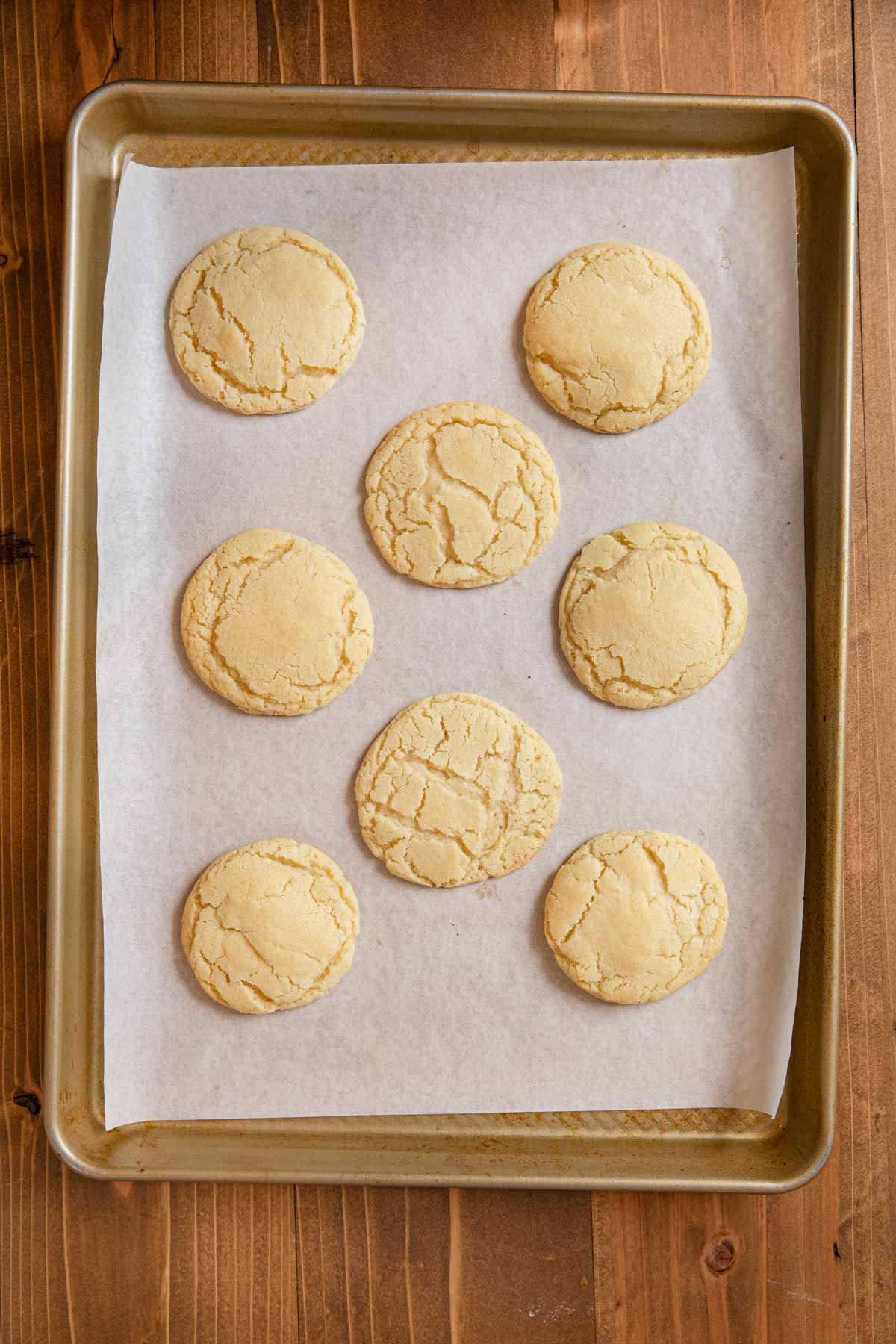 tray of cooked sugar cookies