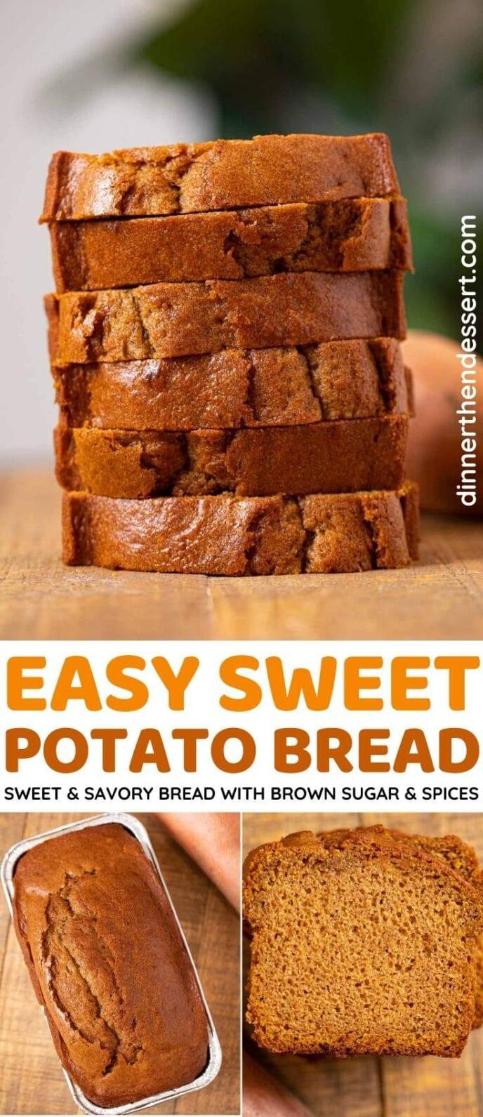 Sweet Potato Bread collage