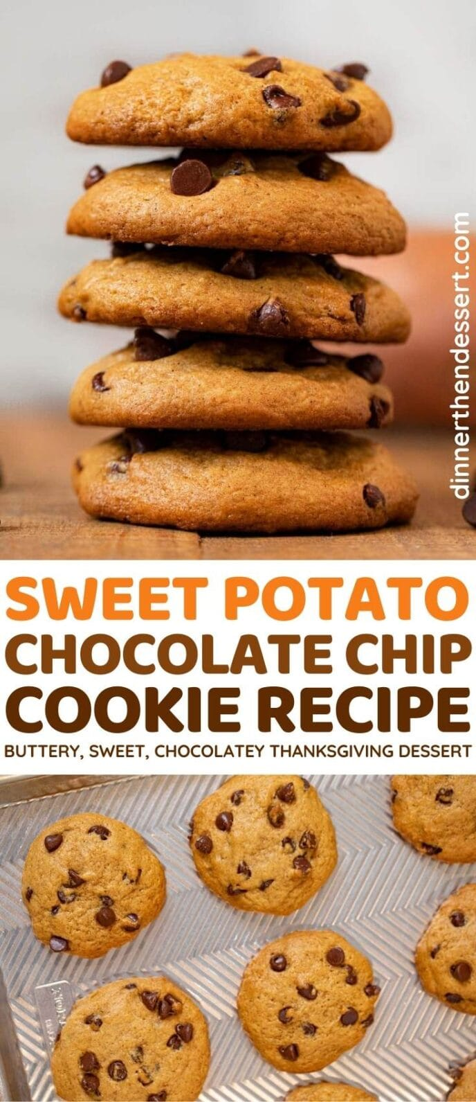 Sweet Potato Chocolate Chip Cookies collage