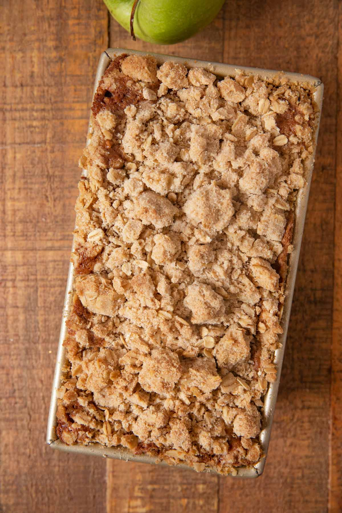 Apple Crisp Bread in loaf pan
