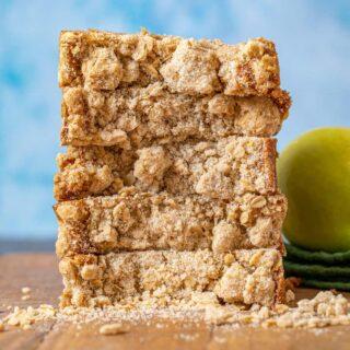 Apple Crisp Bread slices in stack