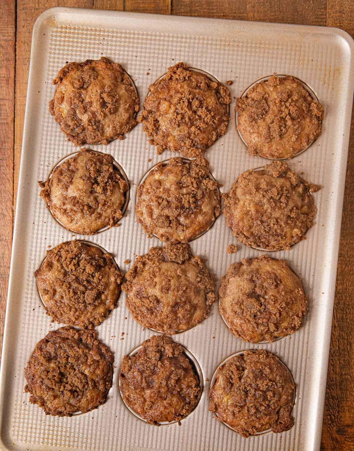 Apple Pie Muffins in cupcake tin