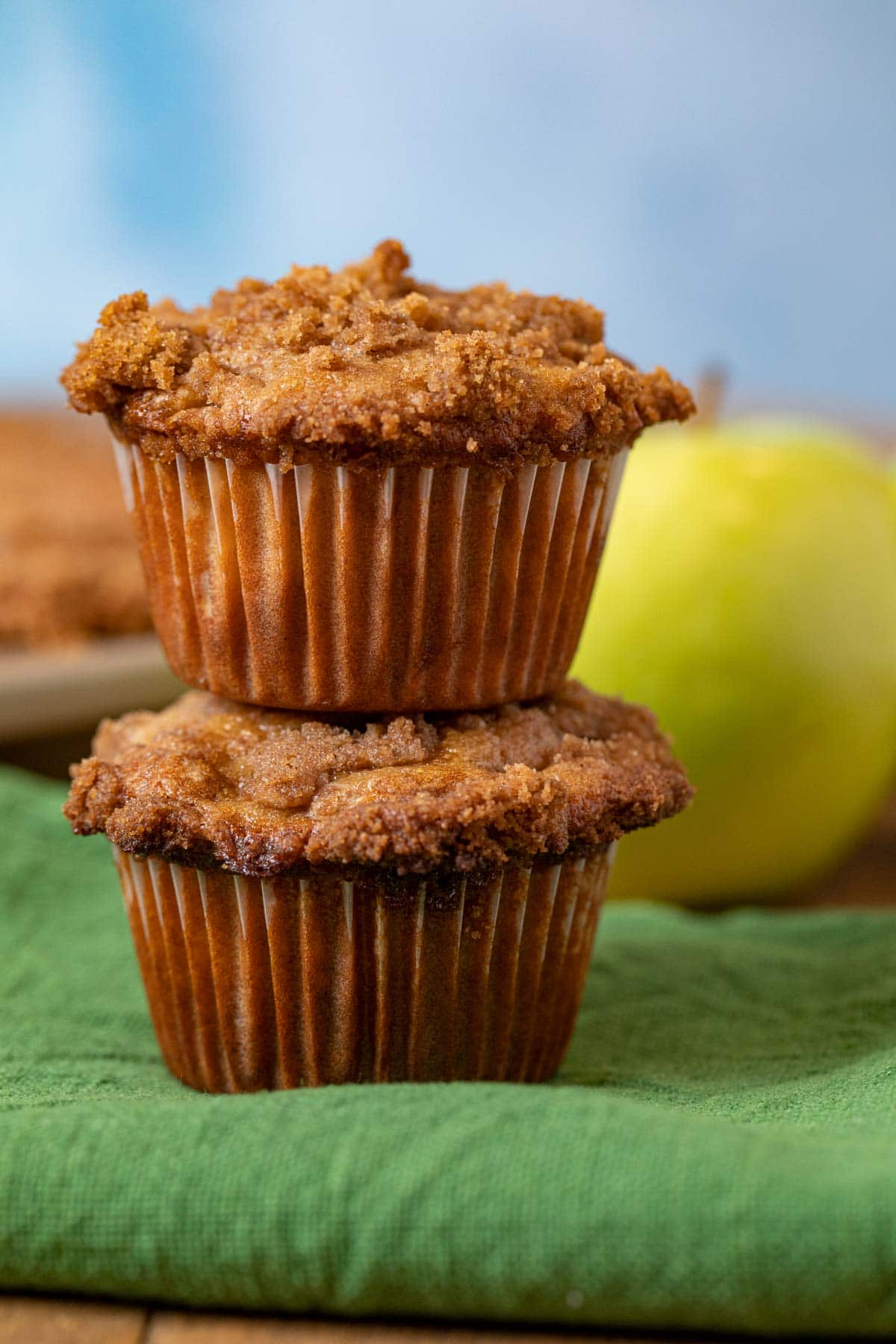 Apple Pie Muffins in stack