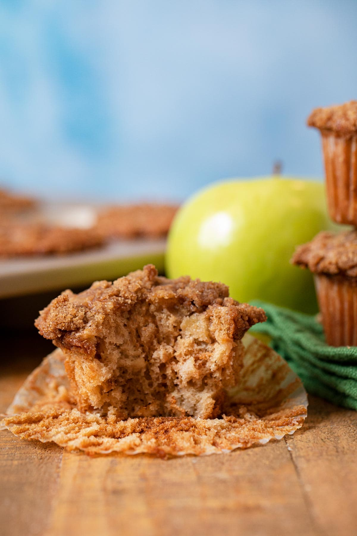 Apple Pie Muffin with bite removed
