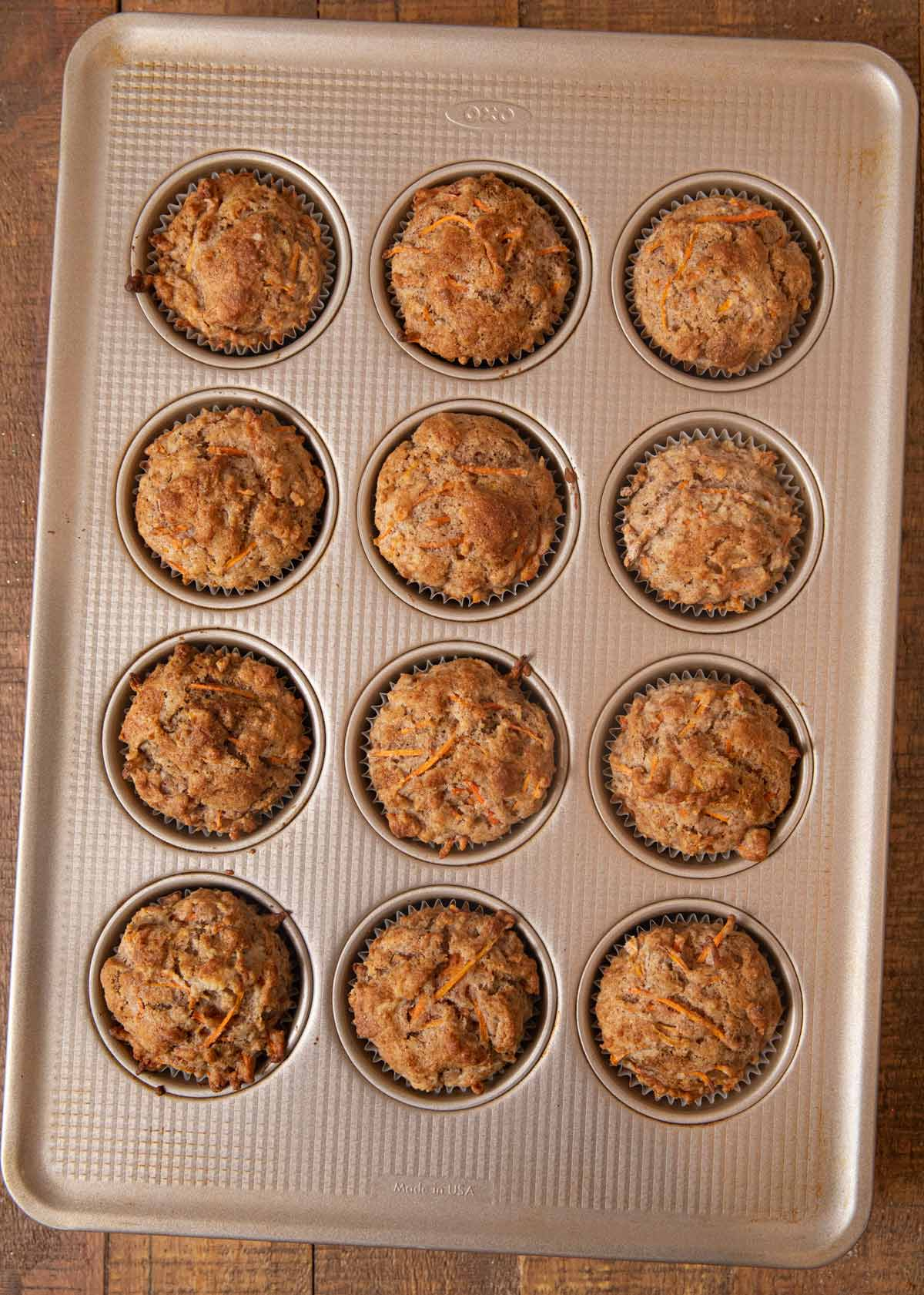 Carrot Muffins in cupcake tin