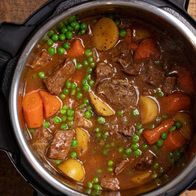 Instant Pot Beef Stew in pot