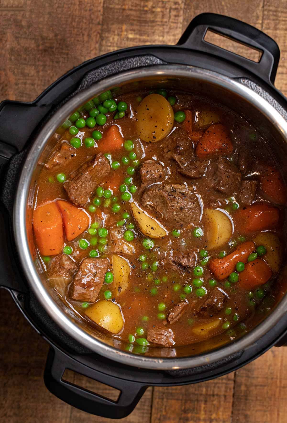 Instant Pot Beef Stew in pot
