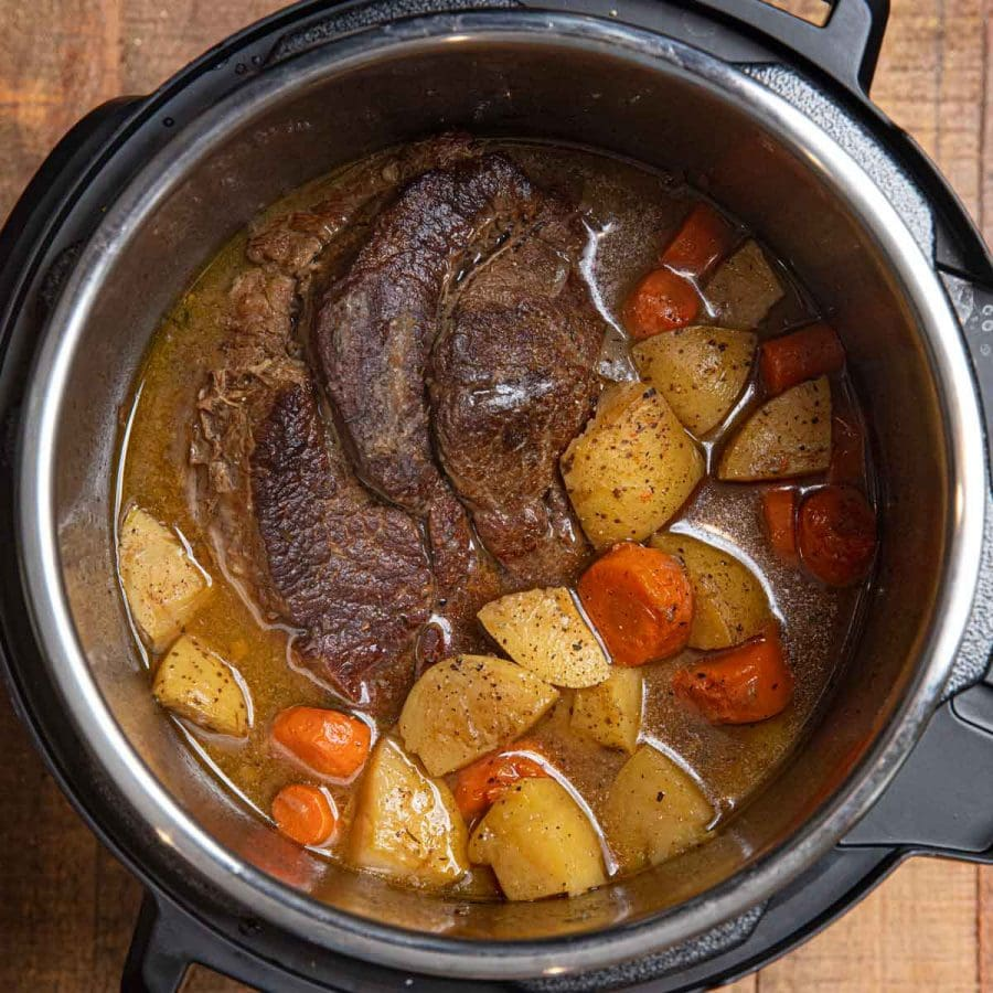 Instant Pot Beef Pot Roast cropped photo after cooking