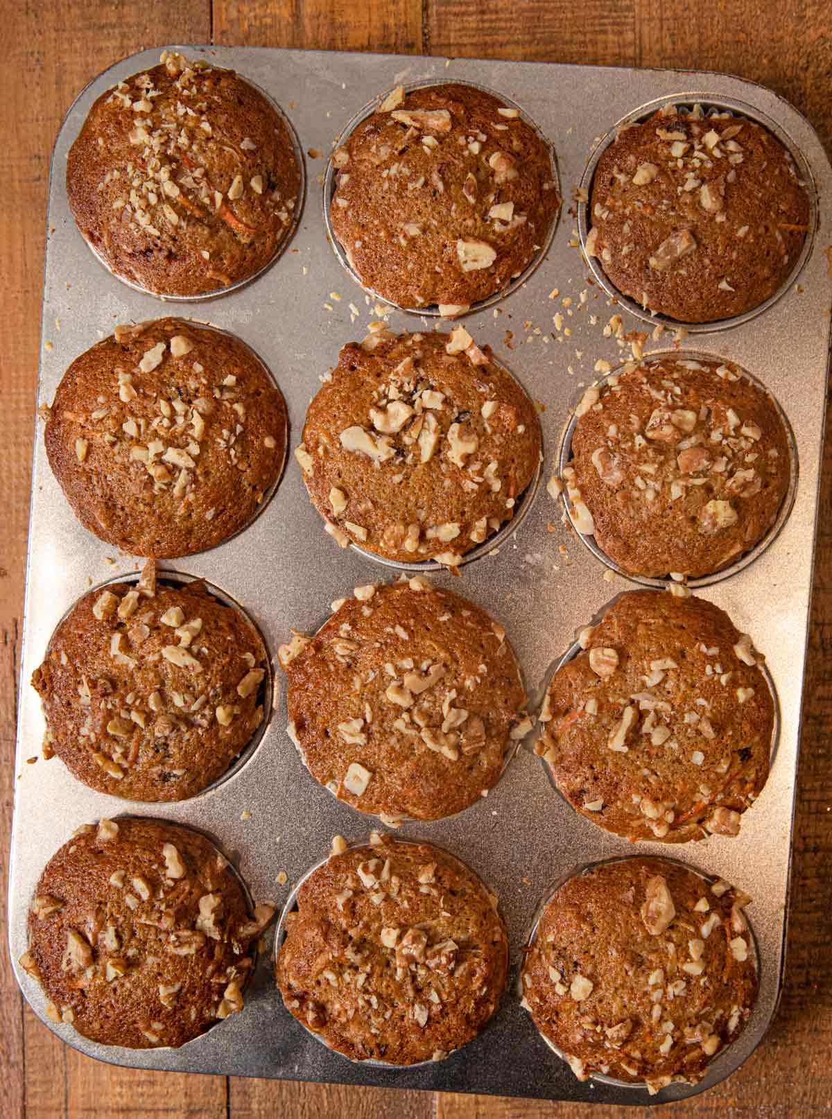 Morning Glory Muffins in cupcake tin