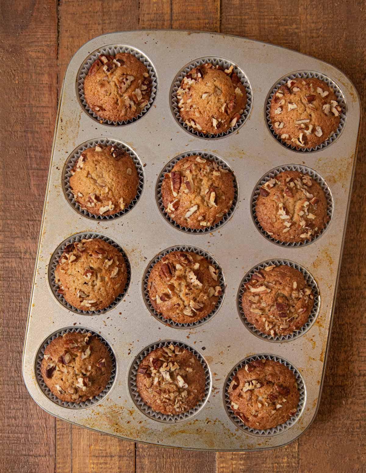 Pecan Muffins in cupcake tin