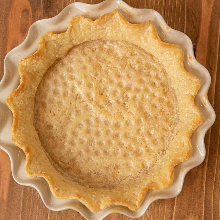 Pie Crust baked crust on pie plate