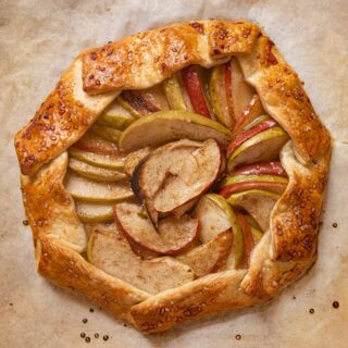Rustic Apple Galette on baking dish