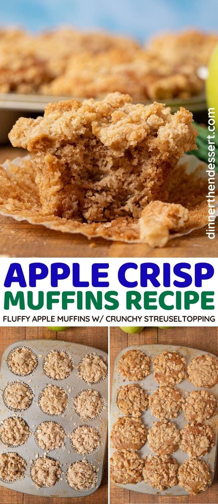 Apple Crisp Muffins collage