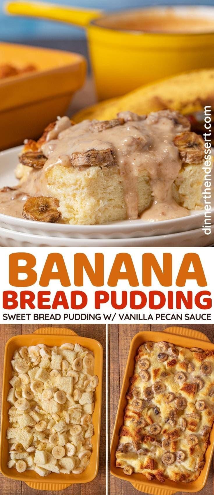 Banana Bread Pudding collage