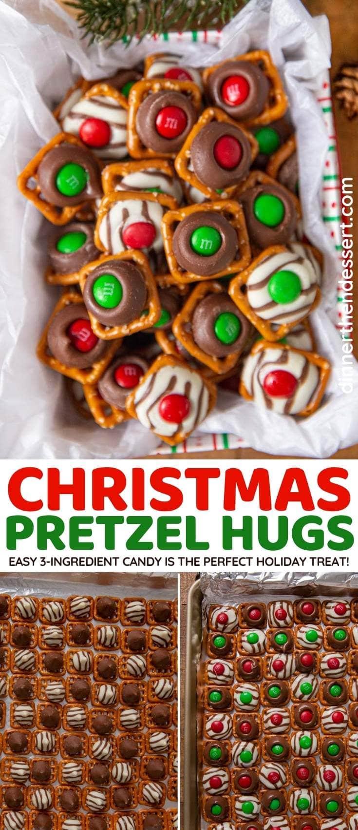 Christmas Pretzel Hugs collage