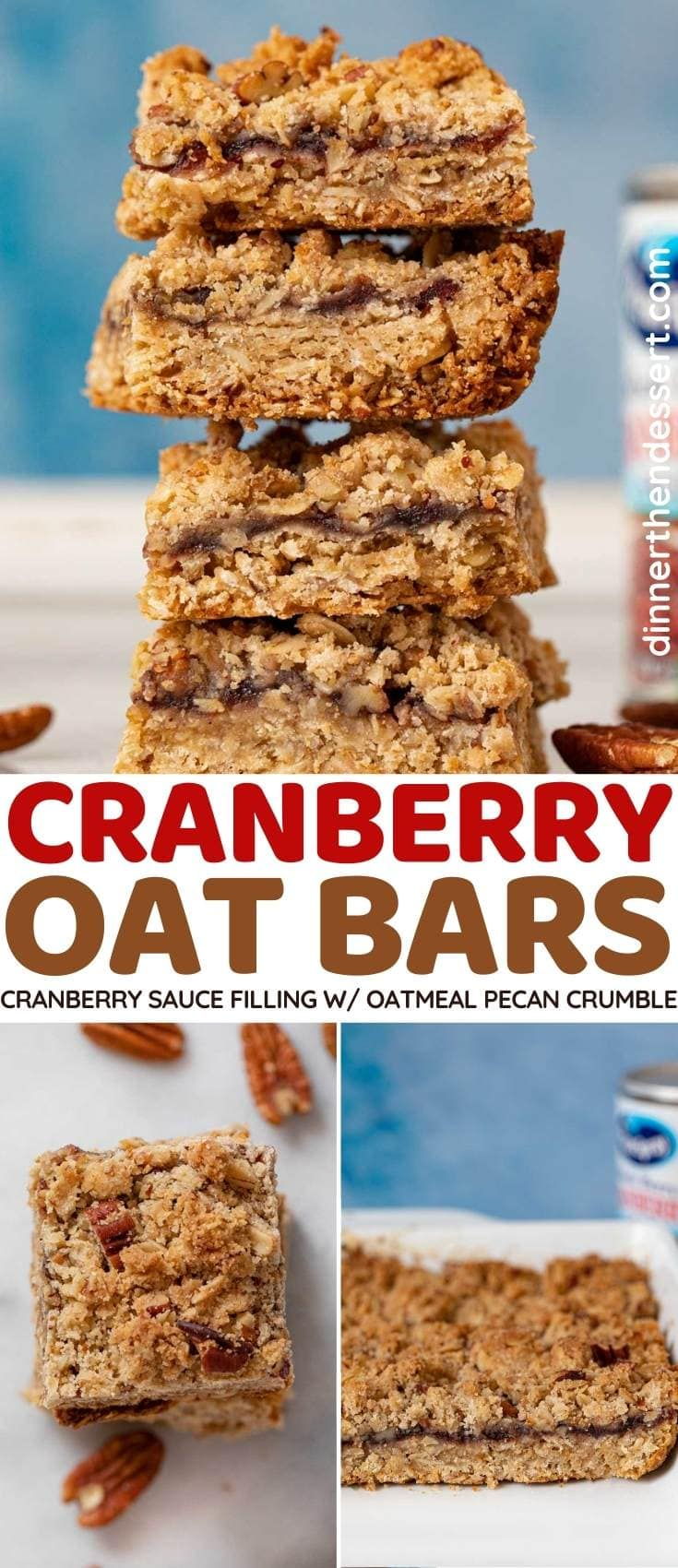 Cranberry Oat Bars collage