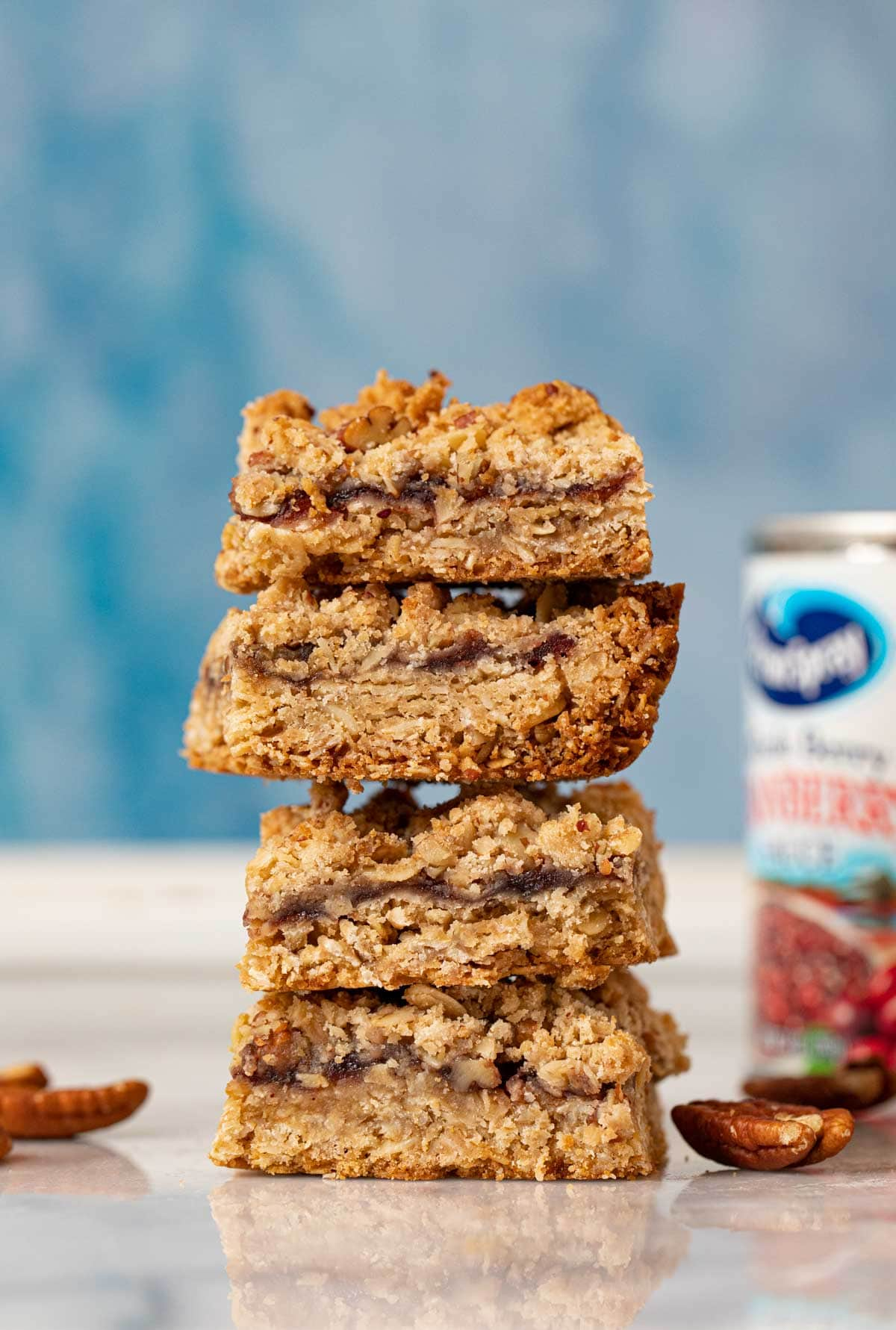Cranberry Oat Bars in stack