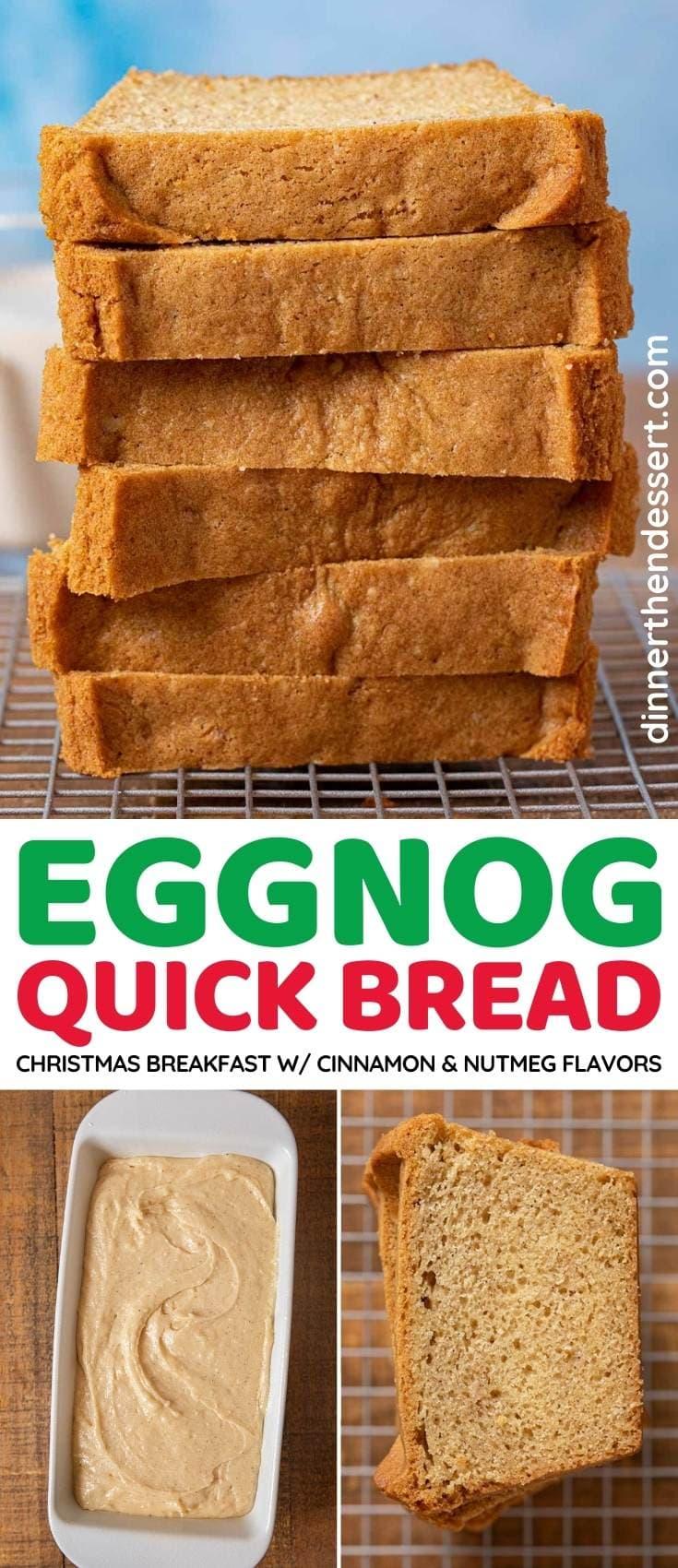 Eggnog Quickbread collage