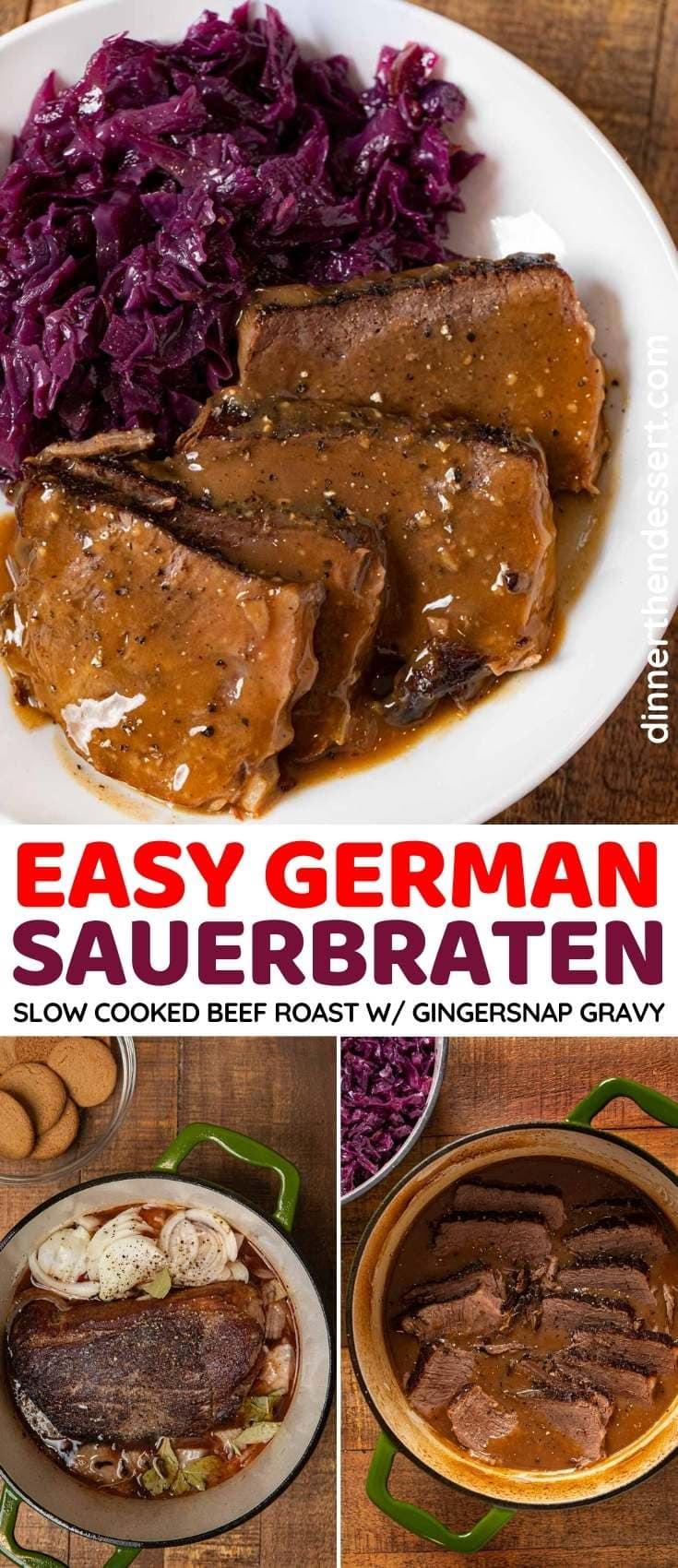 German Sauerbraten collage