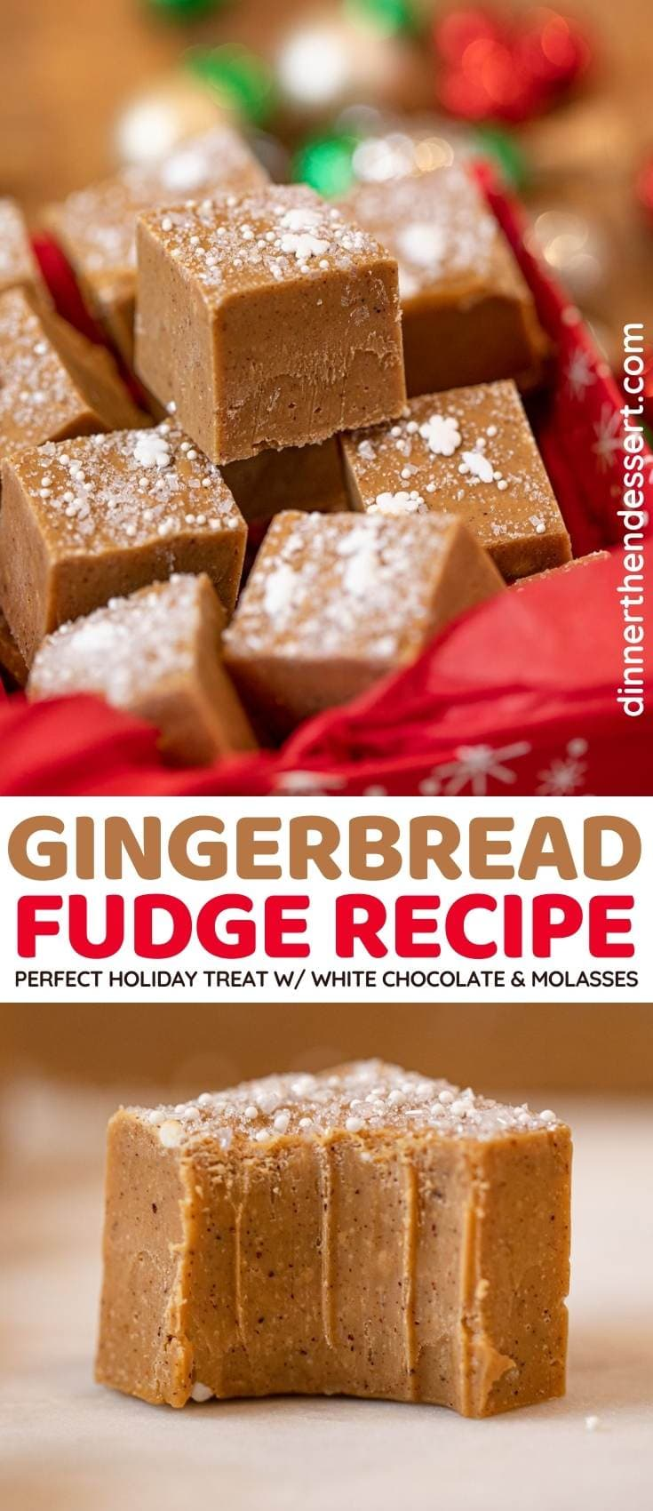 Gingerbread Fudge collage