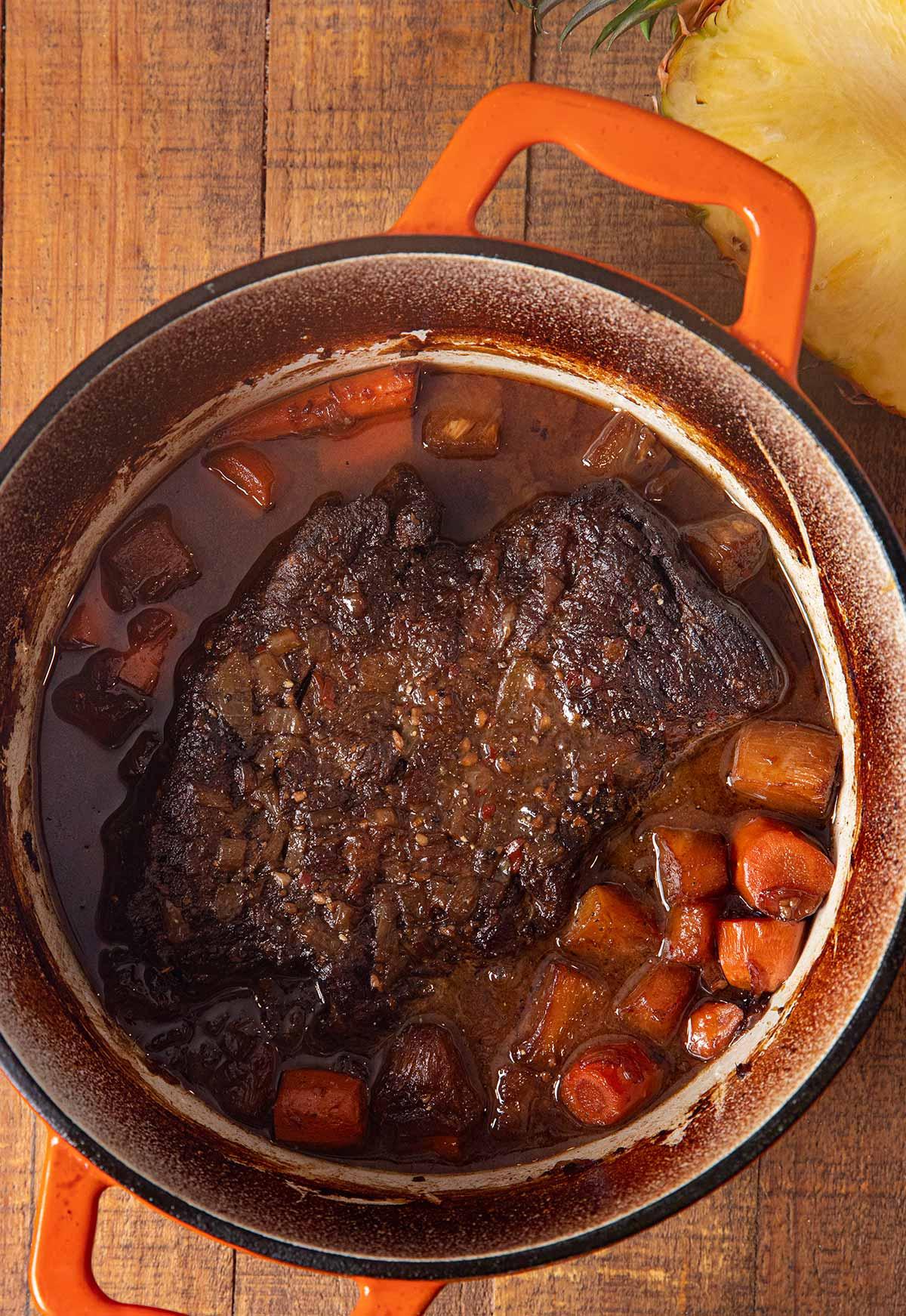 Hawaiian Pot Roast in pot