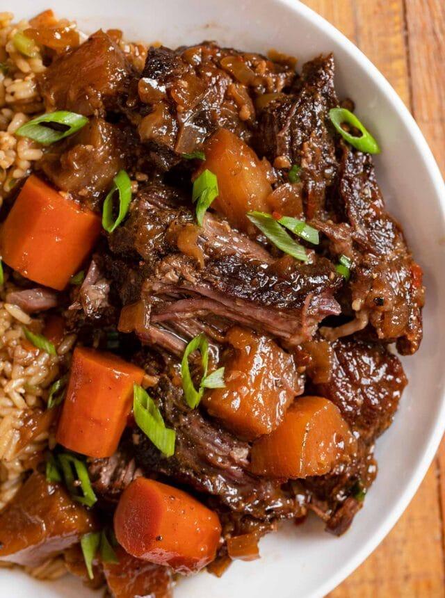 Hawaiian Pot Roast serving on plate