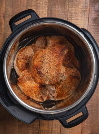 Instant Pot Pork Chops in pressure cooker