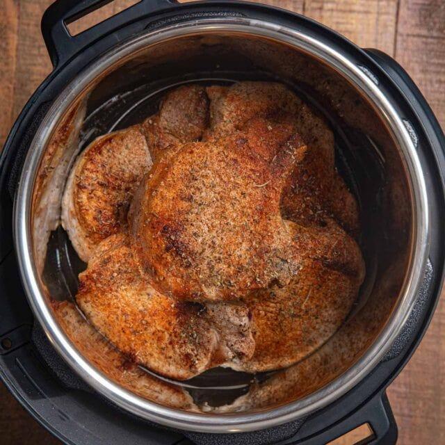 Instant Pot Pork Chops in pressure cooker