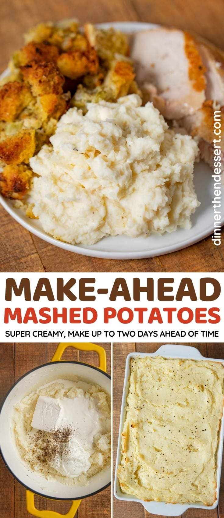 Make-Ahead Mashed Potatoes collage