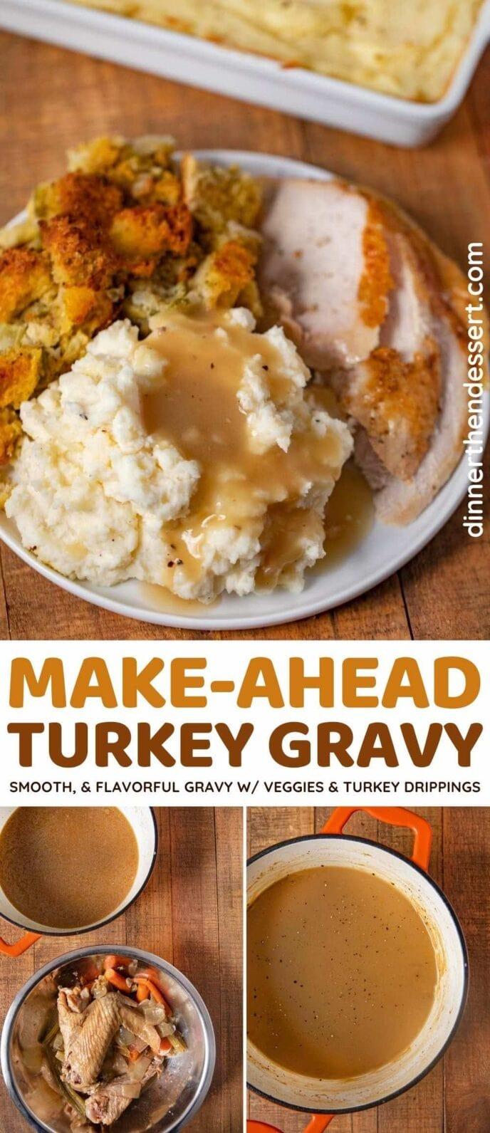 Make-ahead Turkey Gravy collage