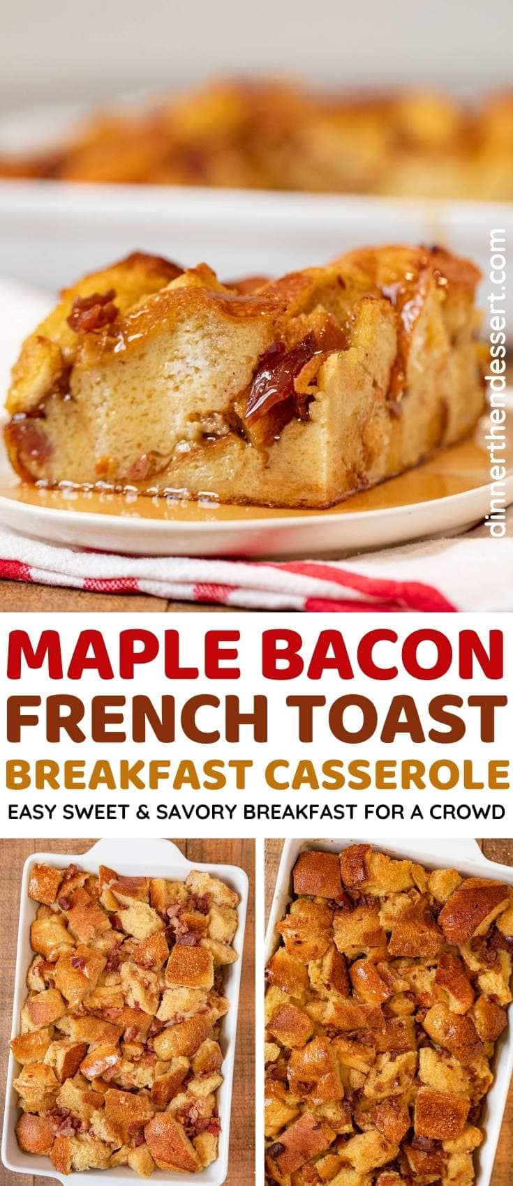 Maple Bacon French Toast Bake collage