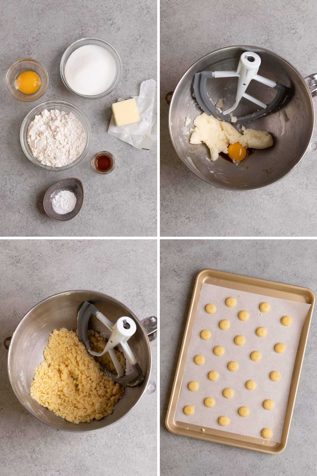 Nilla Wafer Cookies (Copycat) collage of prep steps