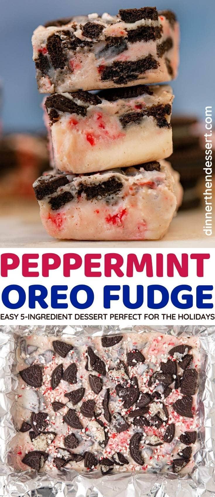 Peppermint Oreo Fudge collage