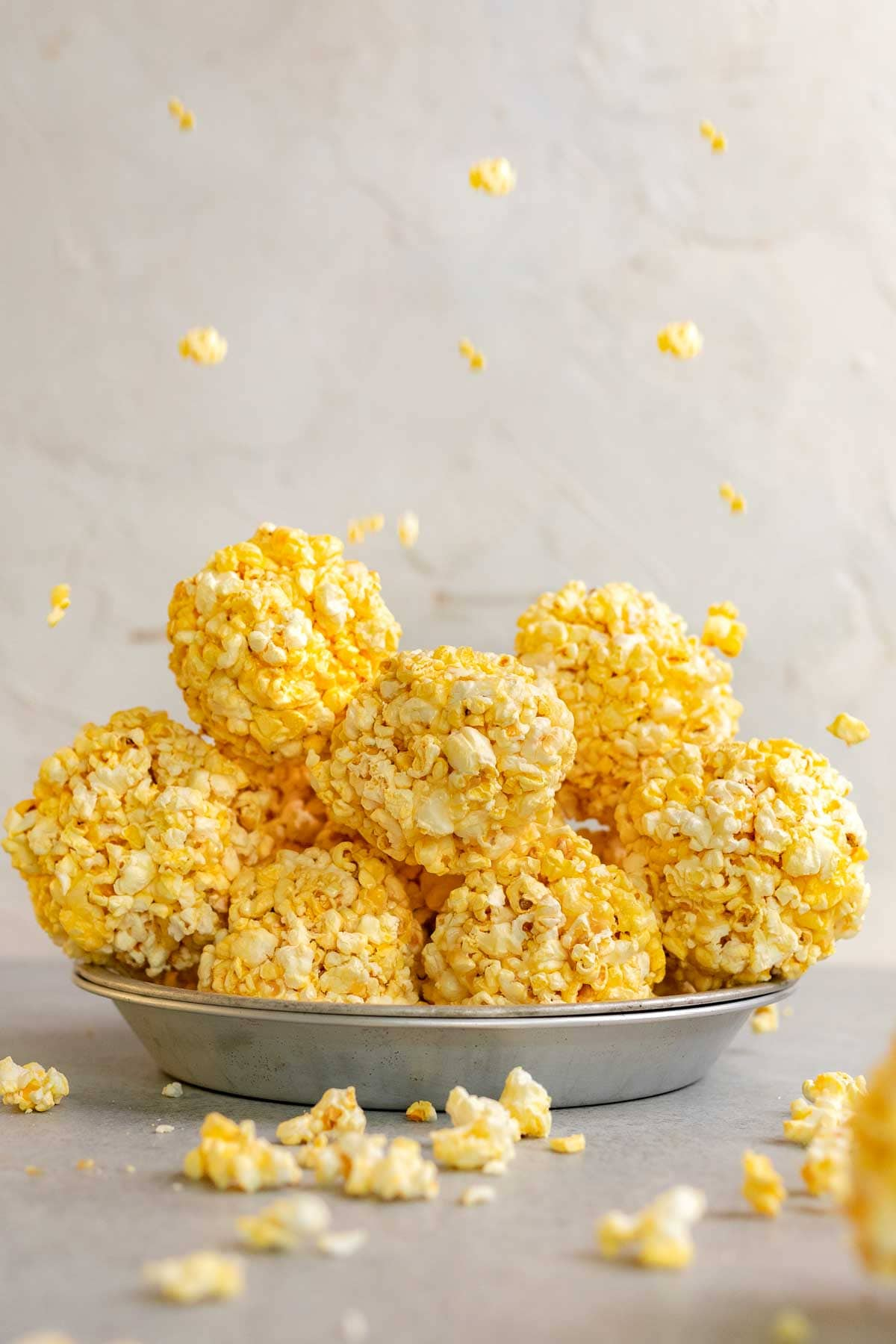 Popcorn Balls stacked up in serving bowl