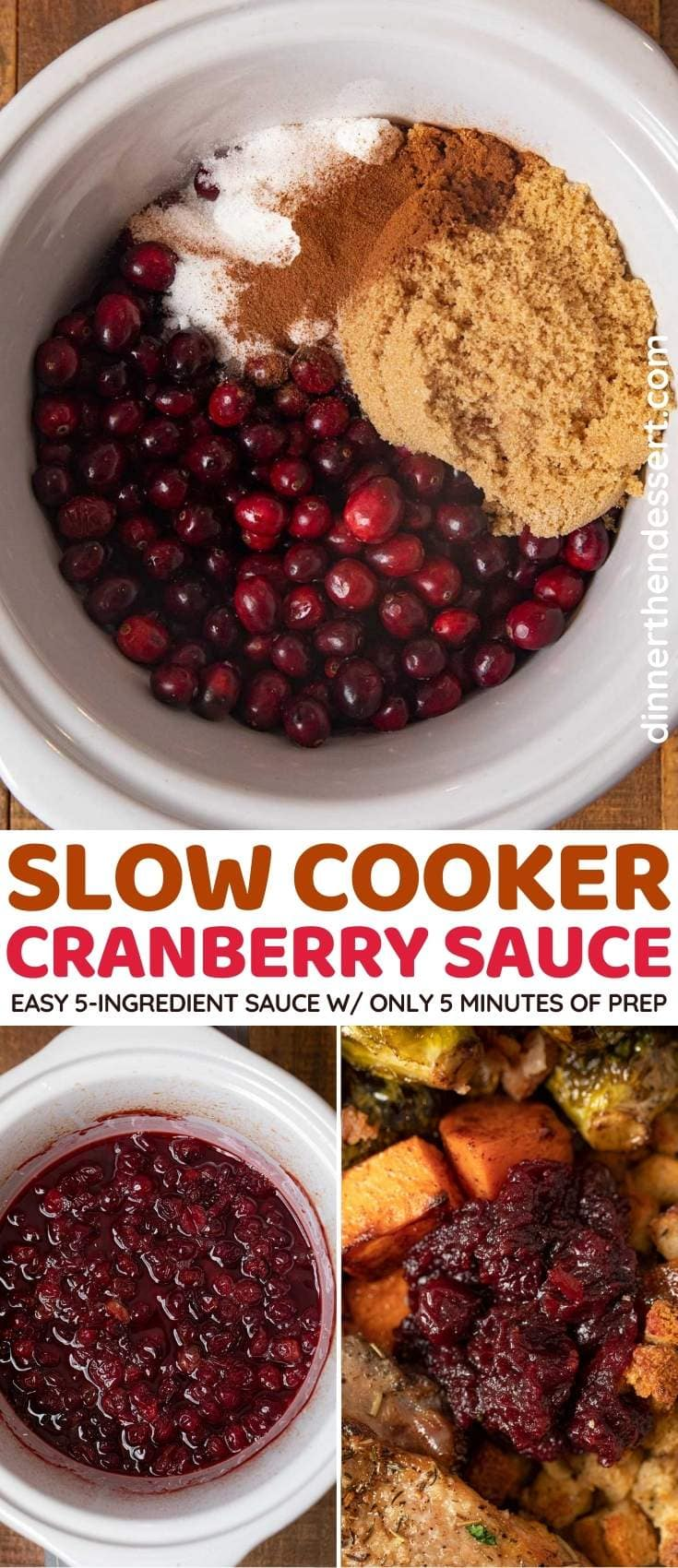 Slow Cooker Cranberry Sauce collage