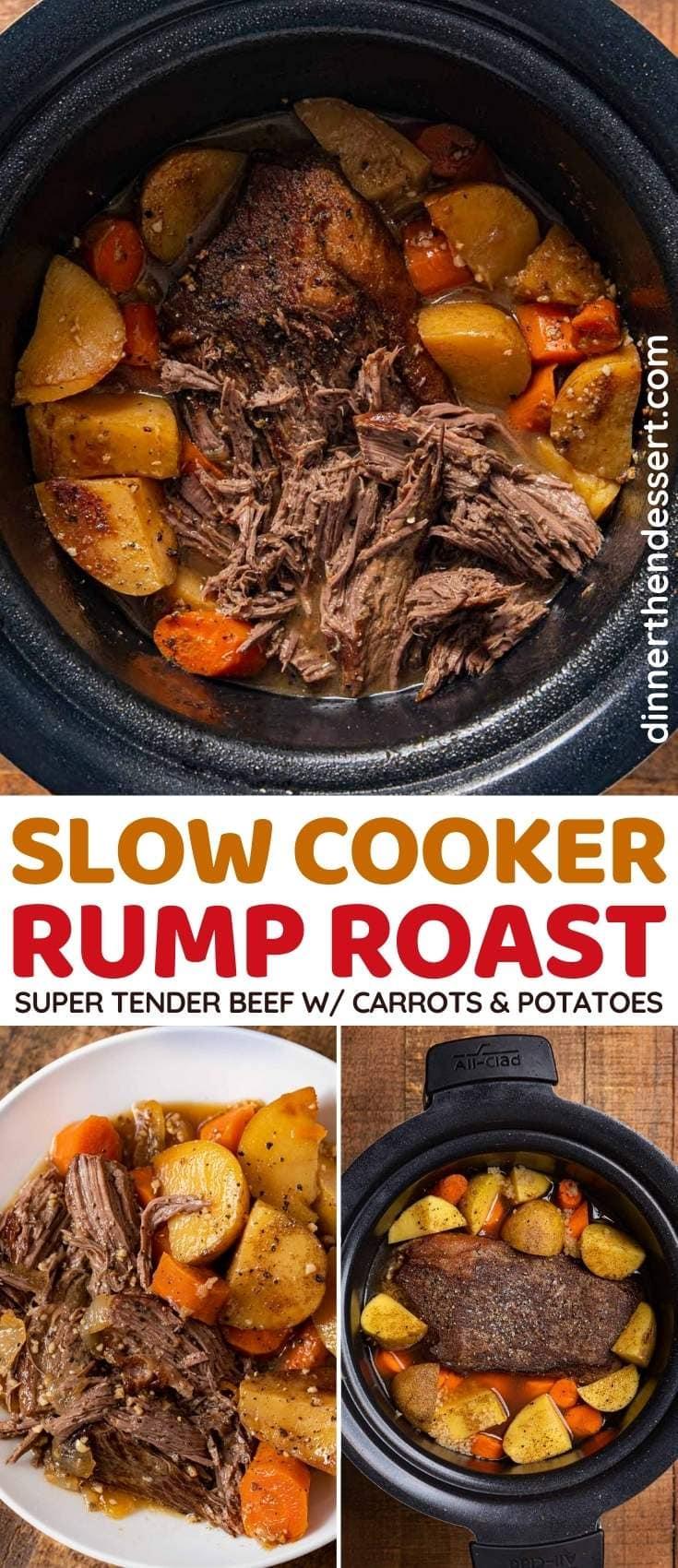 Slow Cooker Rump Roast collage