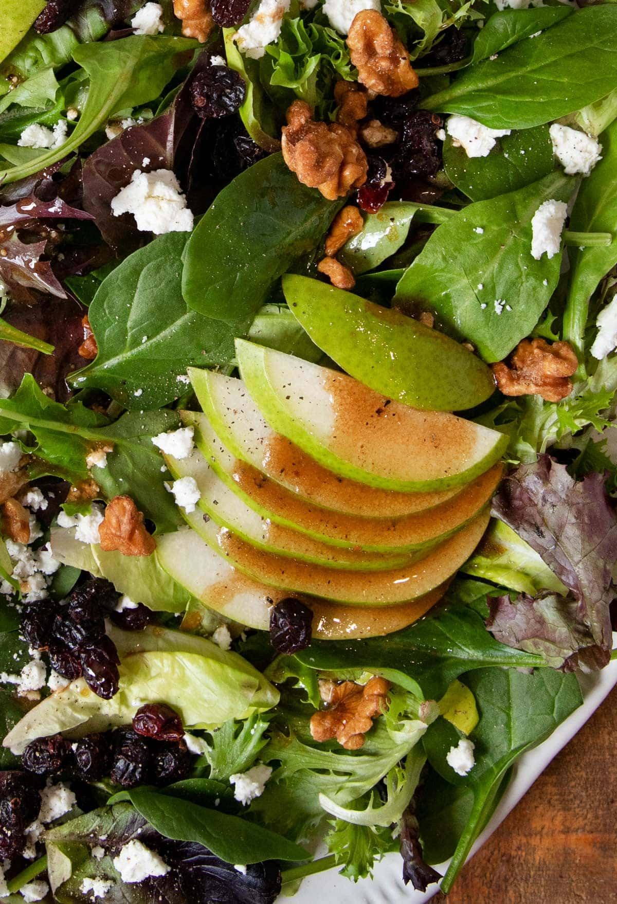close-up of Winter Pear Salad