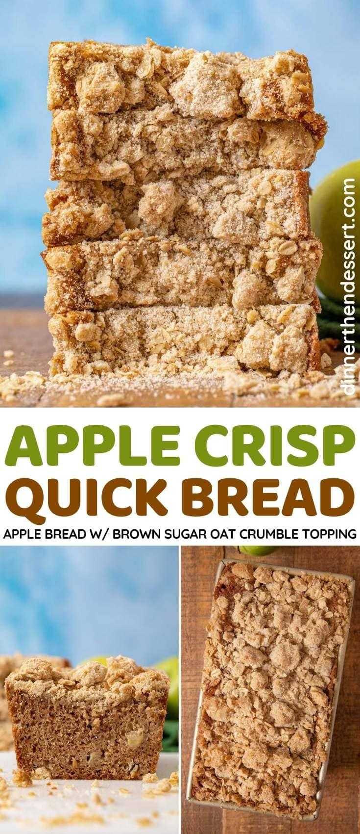 Apple Crisp Quick Bread collage