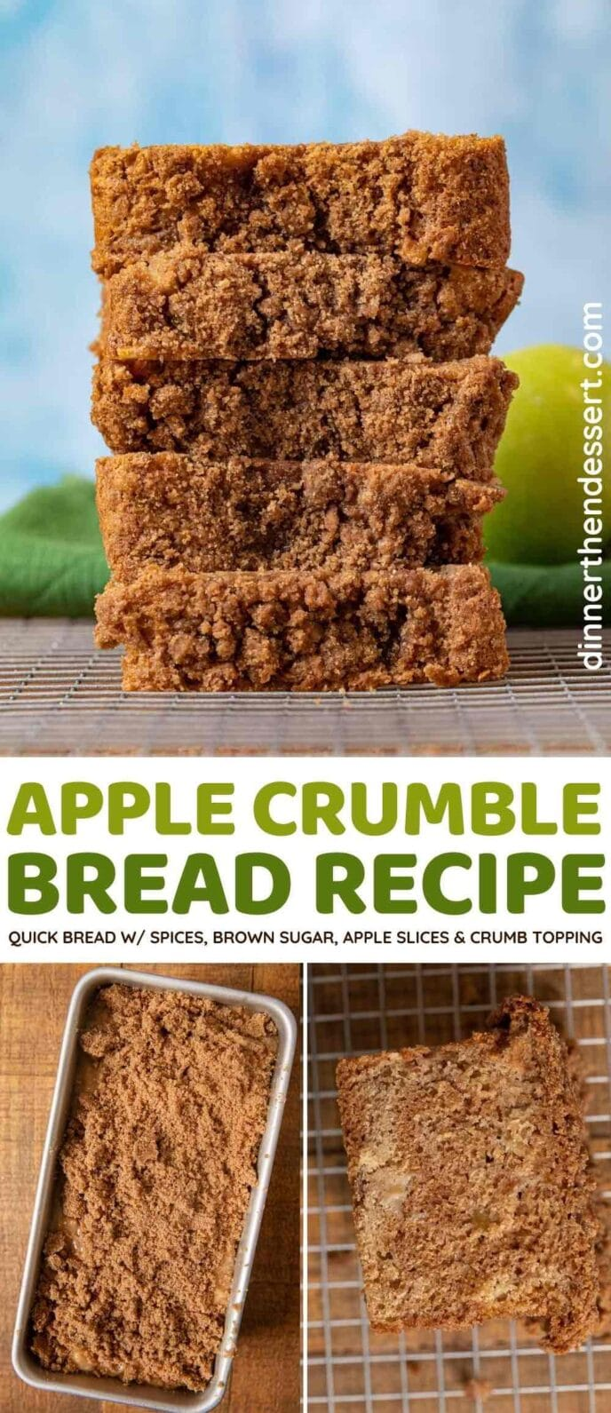Apple Crumble Bread collage